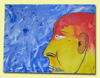 Acrylic Painting - The Face